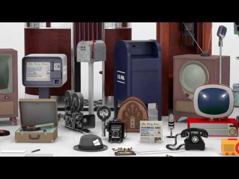 Retro Media Kit — 3D Model Pack for Cinema 4D