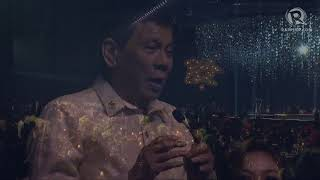 WATCH: Duterte sings
