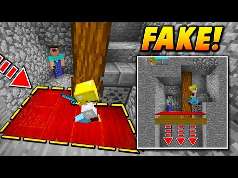 FAKE FLOOR CARPET TRAP! - Minecraft SKYWARS TROLLING (NO WAY!)