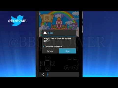 Game Boy Advance Emulator Android App on BlackBerry Z10