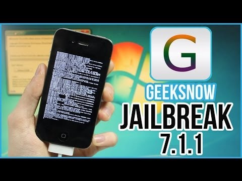 iOS 7.1.1 JAILBREAK Semi Untethered : Tutoriel avec Geeksn0w (iPhone 4)