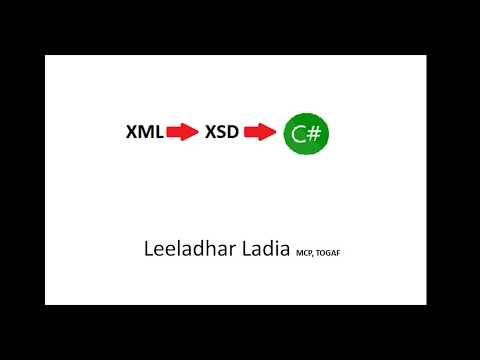 Generate XML to XSD  and XSD to C# class