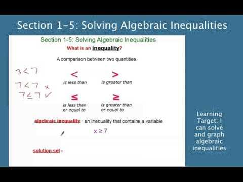 Solving Inequalities Clip