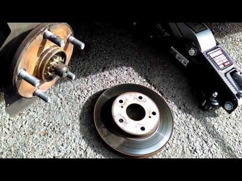 How to change brakes and rotors on 93 Toyota Camry