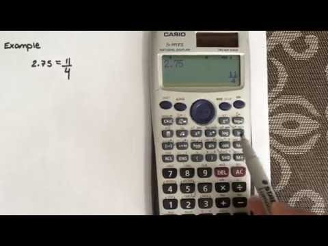 How to convert from a decimal to a fraction using the calculator CASIO Fx-991ES