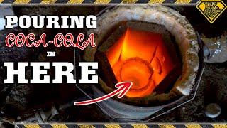 Molten Aluminum in Coke Has a CRAZY Reaction