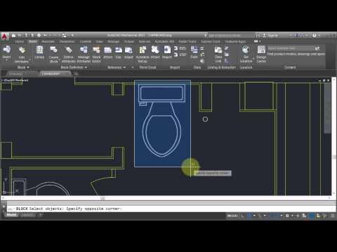 AutoCAD: Editing Blocks - Edit Block In-place