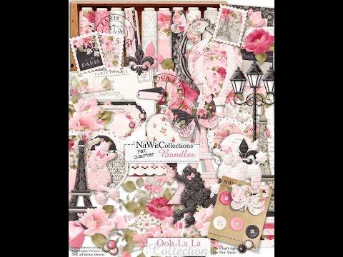 Ooh La La Collection - Digital Scrapbooking Kits, Card Making and Digital Crafting Kits