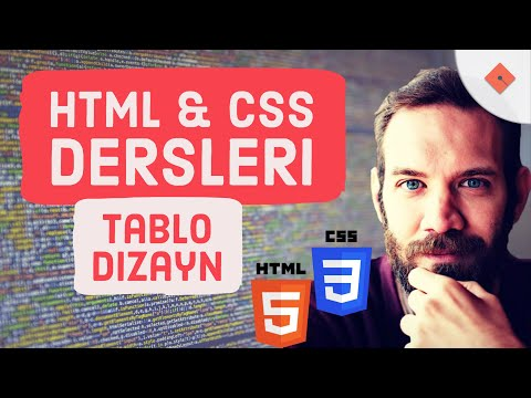 Yakın Kampüs - XHTML (HTML) ve CSS Ders 7 - Tablo Dizayn Komutları (Türkçe)