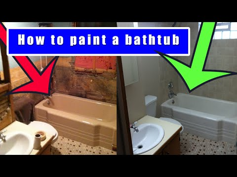 How to paint a bathtub | How to refinish an old bath tub