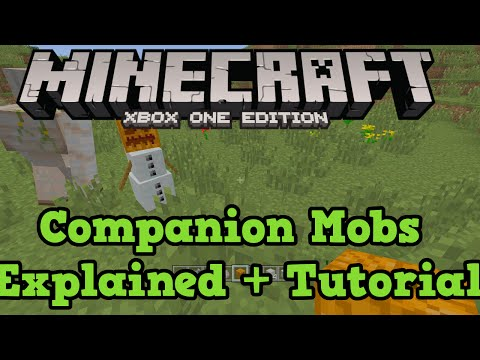 Minecraft Xbox One + PS4: Companion Mobs Tutorial (Wolf, Ocelot, Snow + Iron Golem)