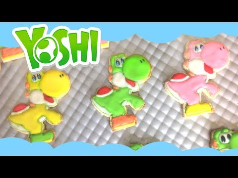 YOSHI COOKIES! How to make easy Nintendo Super Mario Yoshi cookies!