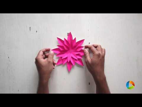 DIY: Easy  Poinsettia Flower