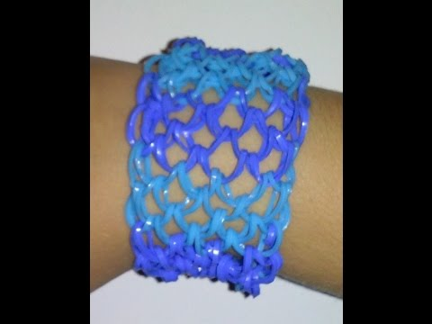 How to make a rainbow loom dragon scale bracelet