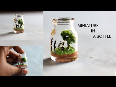 DIY BOTTLE MINIATURE   SUPER EASY BOTTLE MINIATURE  