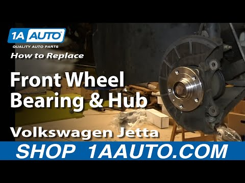 How to Install Replace Front Wheel Bearing Hub 2005-13 Volkswagen VW Jetta