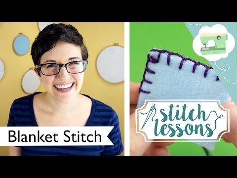 Sewing Blanket Stitch (Stitch Lessons) | @laurenfairwx