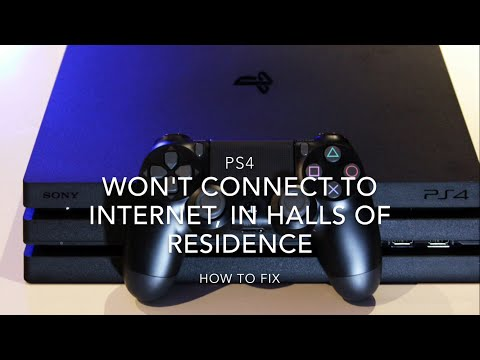 How To Connect PS4 To Internet in University Halls of Residence PSN