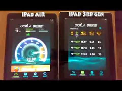 iPad AIR vs iPad 3 wifi speed test