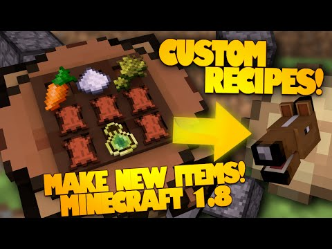 Minecraft Redstone | Make Your Own Item Recipes! | Advanced Crafting Table (Minecraft Redstone)