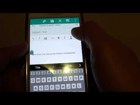 Samsung Galaxy S5: How to Compose and Send New Email