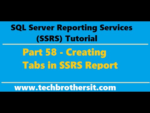 SSRS Tutorial 58 - Creating Tabs in SSRS Report