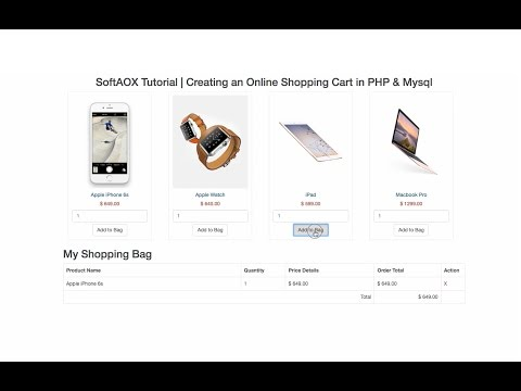 Creating an Online Shopping Cart in PHP & Mysql Part-1