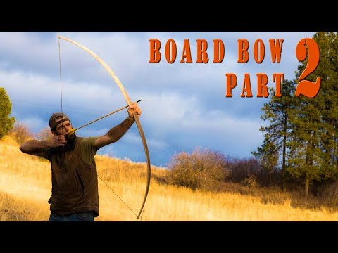 Woodworking ideas - How to build a primitive wood long bow from a maple board Part 2