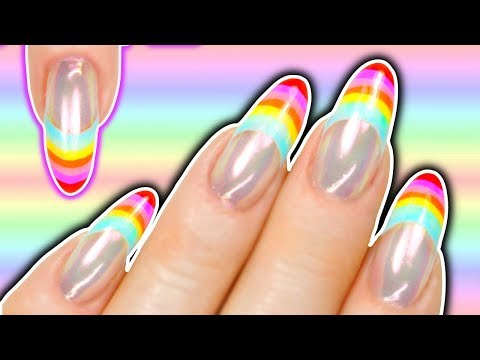 RAINBOW TIPS NAIL ART TUTORIAL- HUBBY DOES MY VOICEOVER♥️