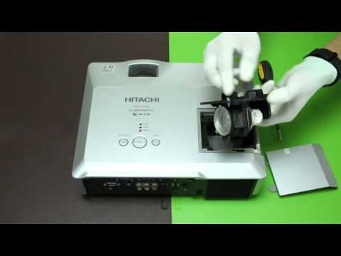 How to replace the projector lamp for HITACHI HCP 900X