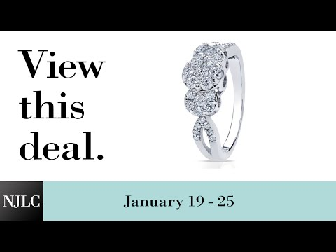 Deal of the Week: White Gold Ladies Diamond Cocktail Ring