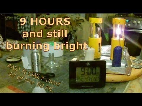 UCO Lantern Oil Insert DIY + 9 hrs Test of the Oil Lantern & my DIY Candles