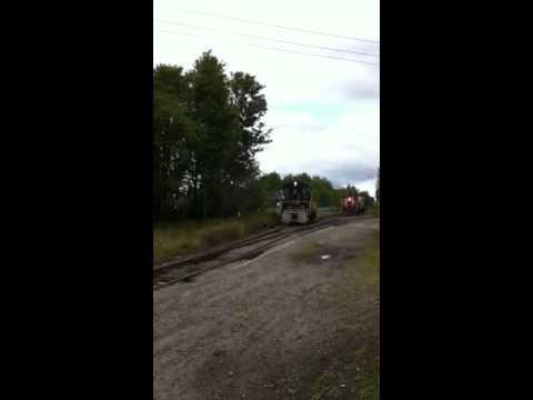 Trains arriving at Tupper Lake