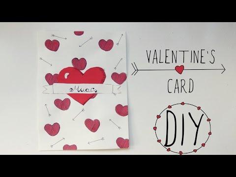 Valentine's Day crafts: love card | Handmade gift for boyfriend