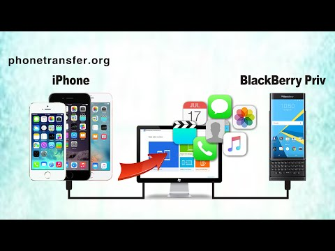 How to Transfer All Data from iPhone to BlackBerry Priv, Sync iPhone 6/5/4 with BlackBerry Priv