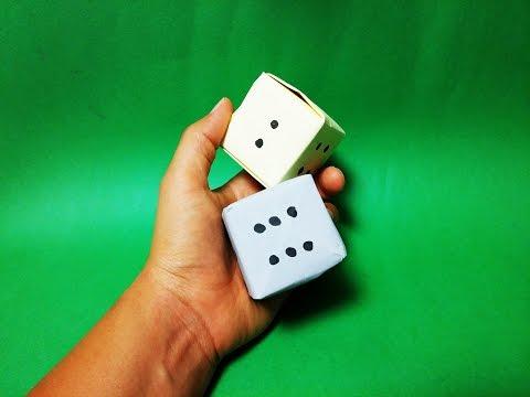쉬운 주사위 종이접기 How to Make a Paper Dice EZ Tutorial Origami CUBE