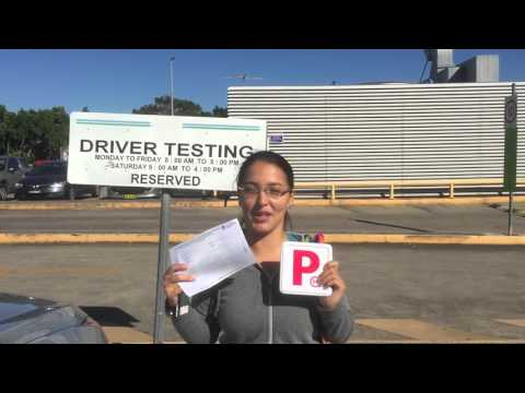 Tatiana passing her driving test first time at Marrickville RTA
