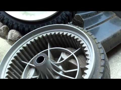 Changing a front drive Craftsman lawnmower wheel