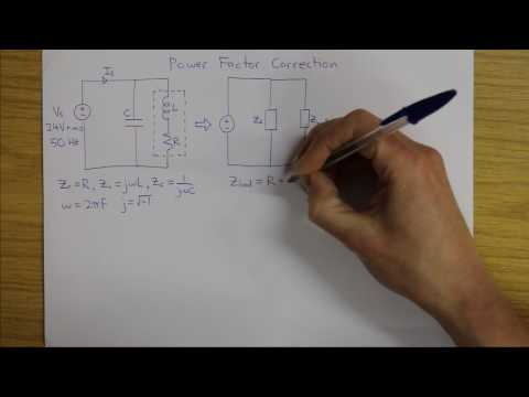Power factor correction of an RL circuit - how to calculate C