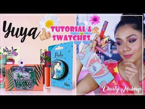 Maquillaje de Yuya tutorial y swatches | Las jaras Kit papaya Un nuevo día | Charly Makeup