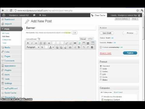 Wordpress Widget Tutorial: Generating Banner HTML Code Using WP