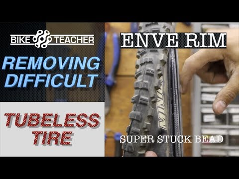 Extremeley difficult tubeless tire removal from Enve Carbon rim.