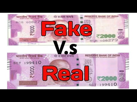 2000 Rupees Note Fake V.s Real | Know the difference