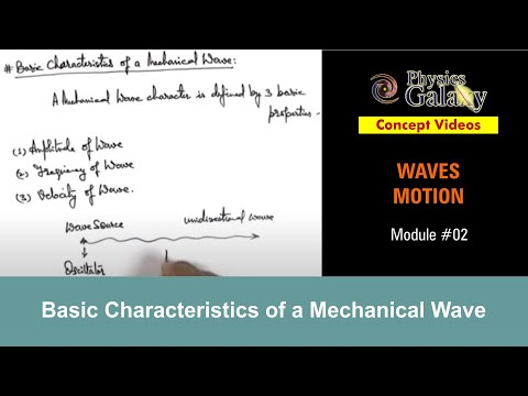 2. Class 11th Physics | Waves Motion | Characteristics of a Mechanical Wave | by Ashish Arora
