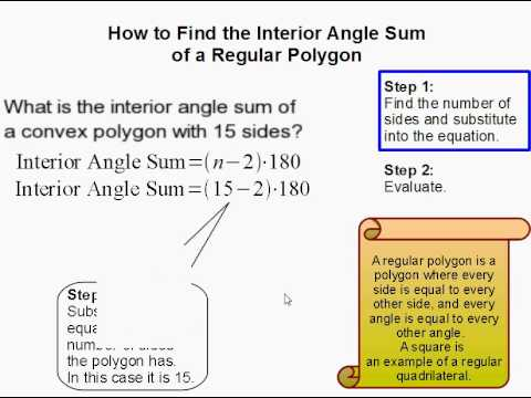 How to Find the Sum of the Interior Angles of a Regular Polygon