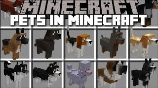 Minecraft DOGS MOD / PLAY AND BREED DOGS AND WATCH THEM GROW!! Minecraft