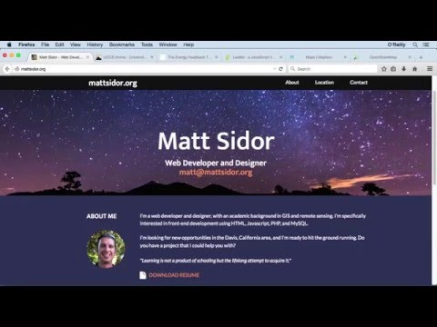 Creating Custom Web Maps Tutorial | About The Author