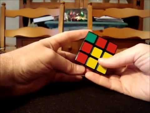 Solve Rubik's Cube without memorization - Part 3 - Keyhole method for solving top layer edges