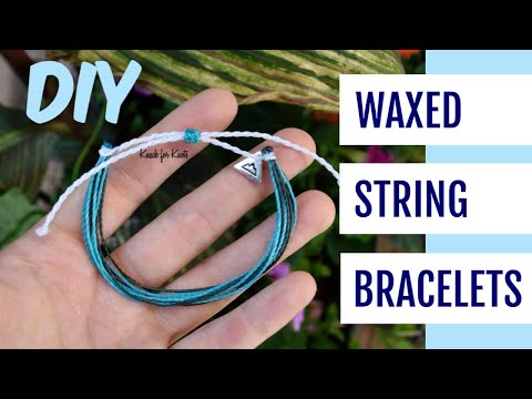 DIY Wax String Friendship Bracelets | Tutorial Inspired by Pura Vida Bracelets!