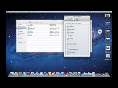 Apple Finder Preferences Mac OS X Lion -  How To Remove All My Files